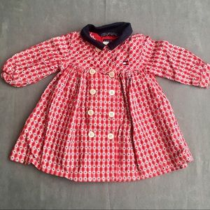 Tommy Hilfiger (3-6M) check/stripe dress